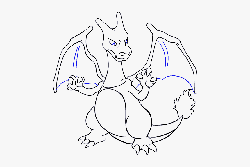 How To Draw Charizard Charizard Easy Pokemon Drawing Hd Png