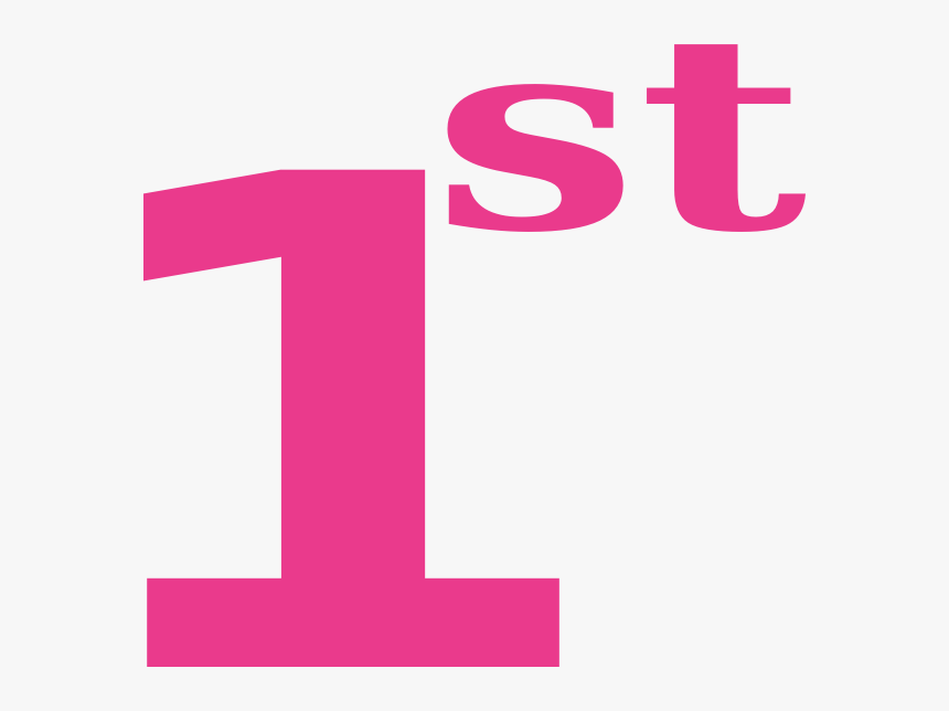 Pink Number One Png - Number One 1st Clipart, Transparent Png, Free Download