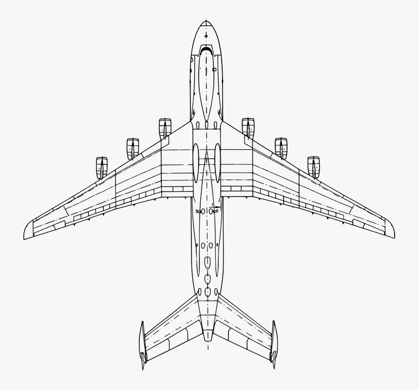 Transparent Airplane Vector Png - Antonov An 225 Top, Png Download, Free Download