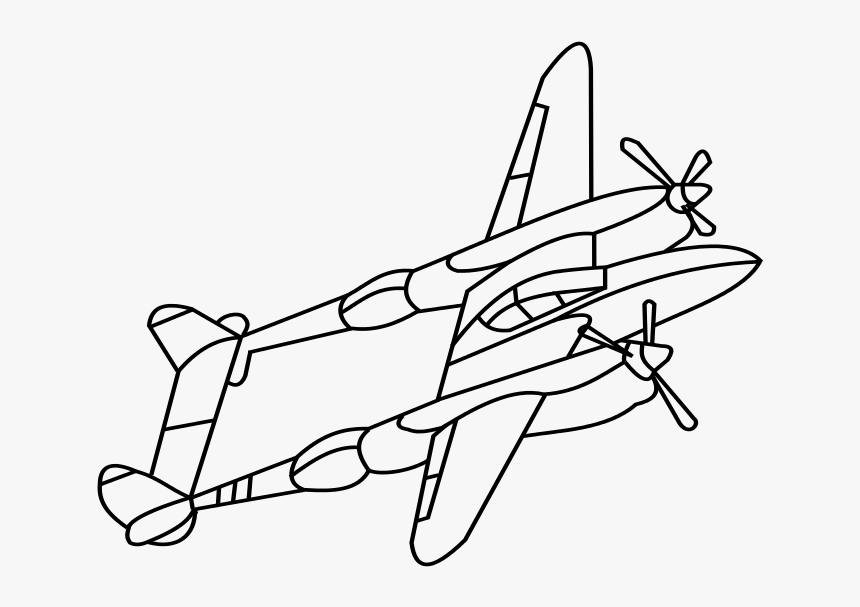 Wwii Plane Drawing - Ww2 Fighter Planes Drawing, HD Png Download, Free Download