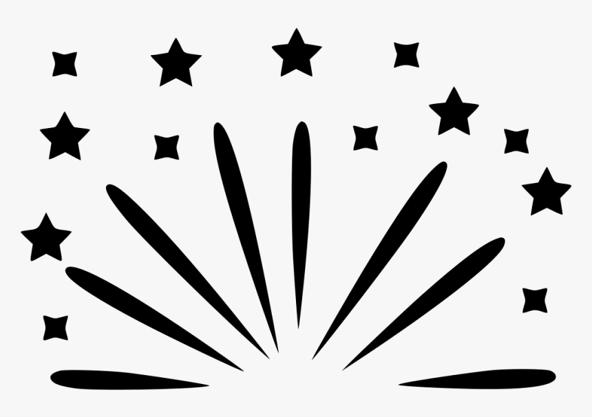 Party Firework Celebrate Comments - Grey And White Star Background, HD Png Download, Free Download