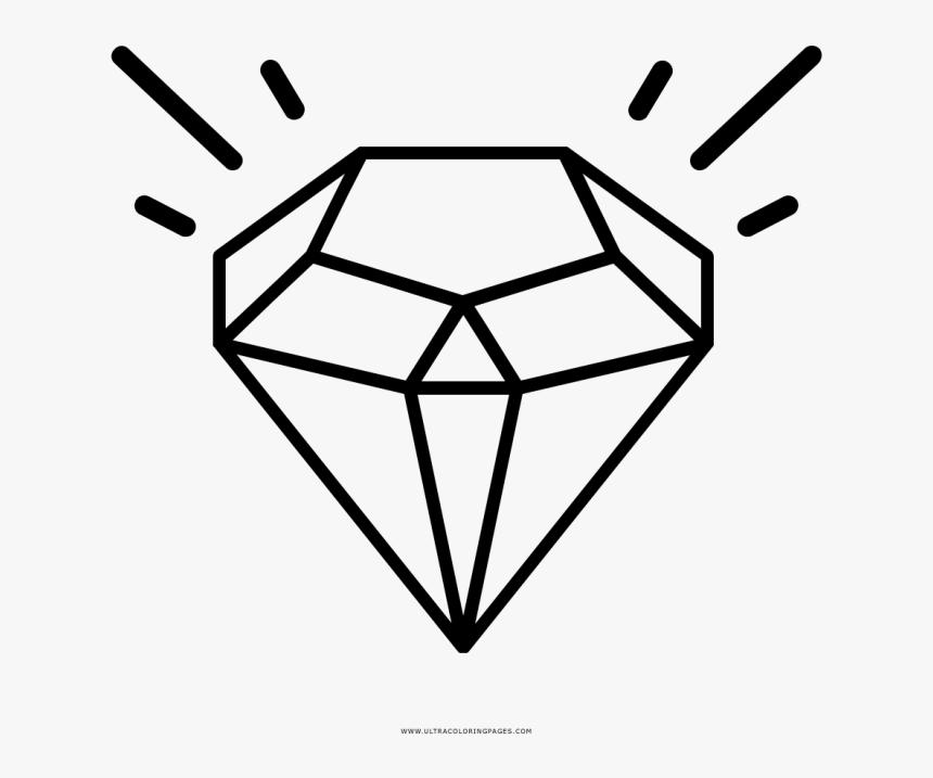 Diamond Clipart Basic - Desenho De Diamante Para Colorir, HD Png Download, Free Download