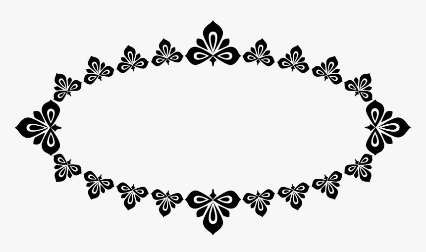 Frame, Picture Frame, Oval, Motif, Folk Motif, Black - Traditional Frame Border Png, Transparent Png, Free Download