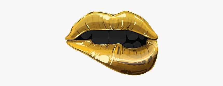 Lips Gold Transparent Kalifornia-klasss Transparent - Lips Gold Png, Png Download, Free Download