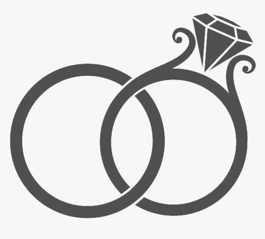 Diamond Ring Wedding Clip Art Free Clipart Images Rings Wedding Rings Clipart Black And White Hd Png Download Kindpng