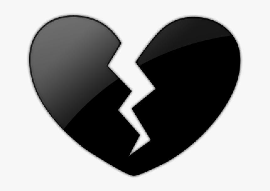 Black Heart Clipart Emoji Black Heart Broken Png Plant - Broken Black Heart Png, Transparent Png, Free Download