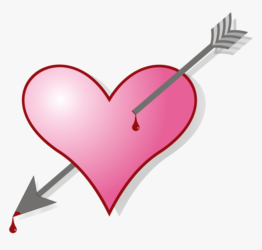 Broken Heart Symbol Romance Love - Arrow In The Heart Gif, HD Png Download, Free Download