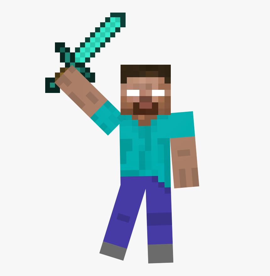 Transparent Minecraft Diamond Sword Png - Minecraft Diamond Sword, Png Download, Free Download
