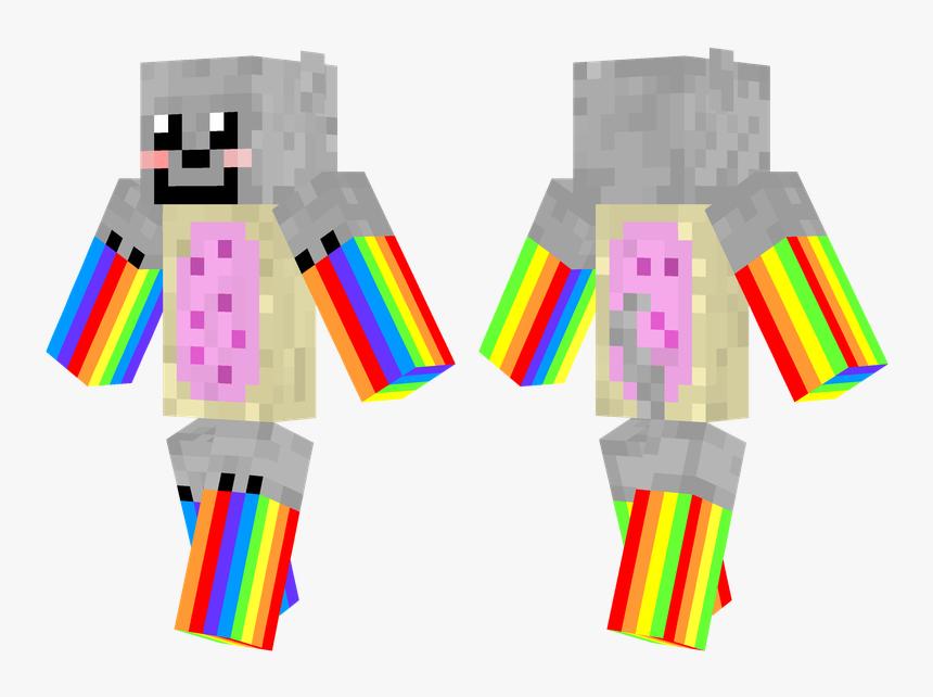 Skins De Minecraft , Transparent Cartoons - Nyan Cat Minecraft Skin, HD Png Download, Free Download