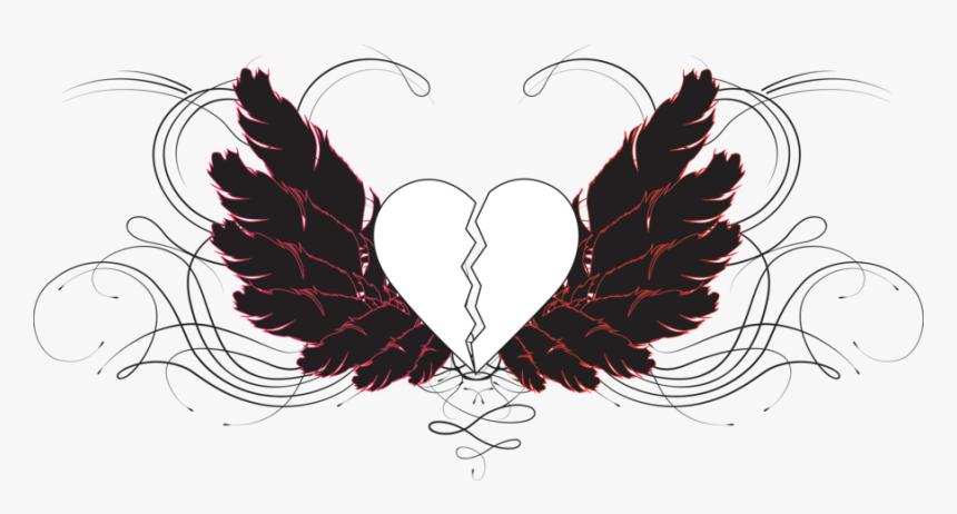 Drawn Broken Heart Transparent - Drawings Of Broken Hearts, HD Png Download, Free Download