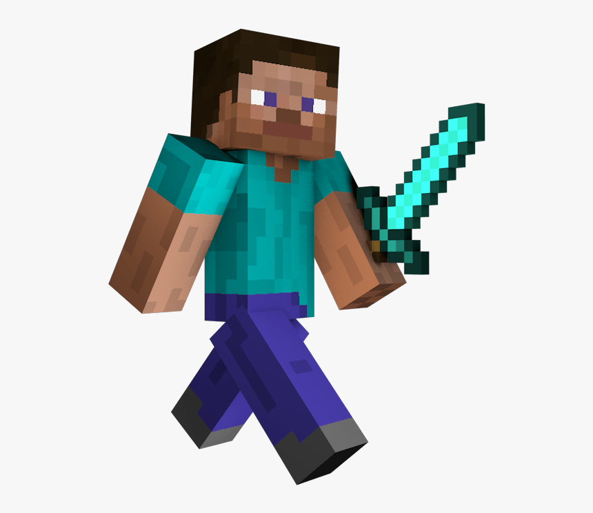 Minecraft Steve 5 Minecraft Steve With Sword Hd Png Download Kindpng Elephants are large mammals of the family elephantidae and the order proboscidea. minecraft steve with sword hd png