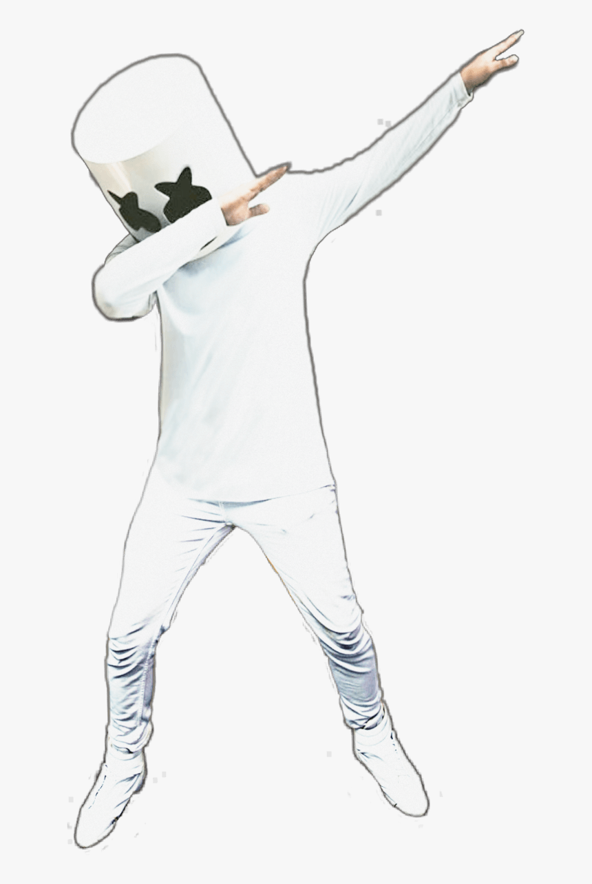 Collection Of Free Marshmello Drawing Dab - Marshmello Dab, HD Png Download, Free Download
