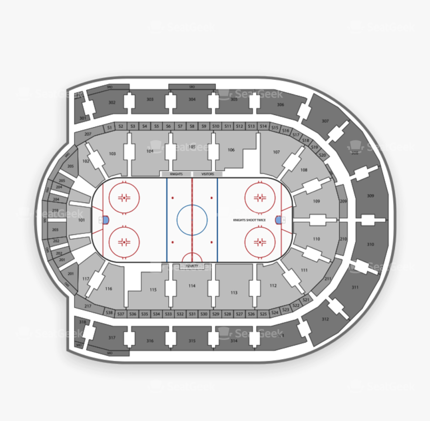 Philadelphia Flyers Seating Chart Map Seatgeek Png - Budweiser Gardens Seating Chart Rows, Transparent Png, Free Download