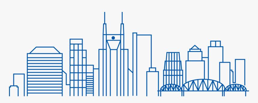 Nashville, Skyline, Line Art, Business, Cityscape, - Nashville Skyline Png, Transparent Png, Free Download