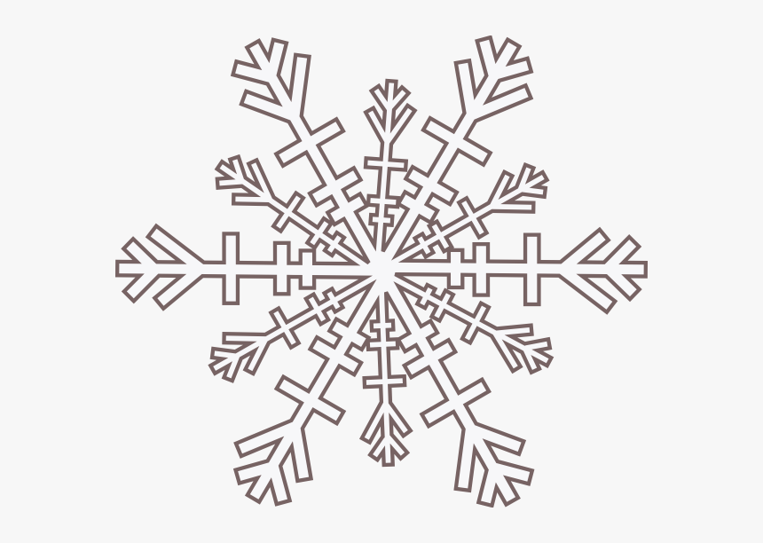 Black And White Borders Snowflakes Clipart , Png Download - Snowflake Png Black Outline, Transparent Png, Free Download