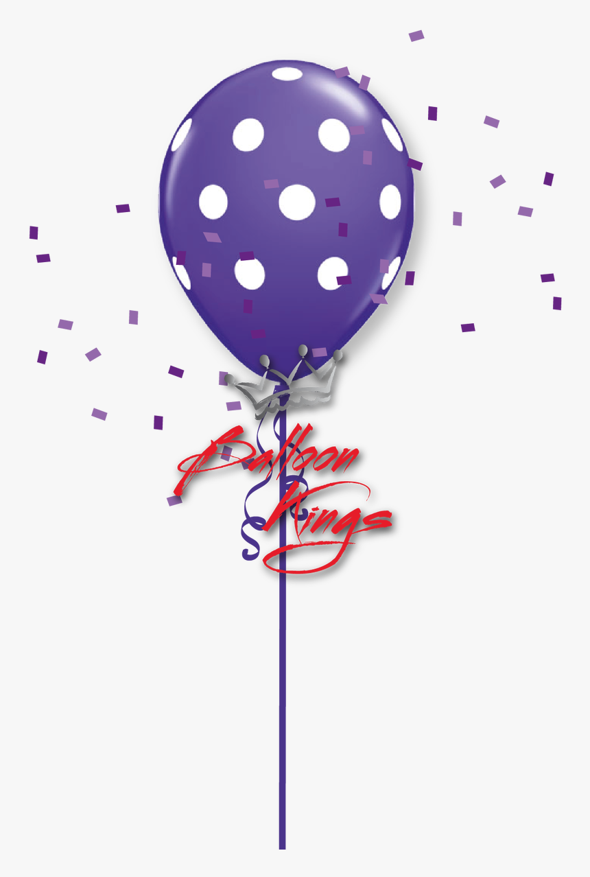 Purple Number 2 Png Polka Dots - Baby Balloon Png Hd, Transparent Png, Free Download