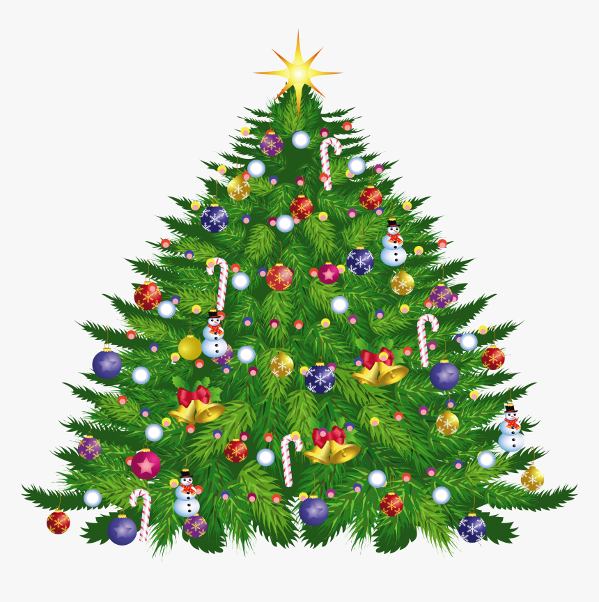 Large Transparent Christmas Deco Tree Png Download - Christmas Toys Tree Clipart, Png Download, Free Download