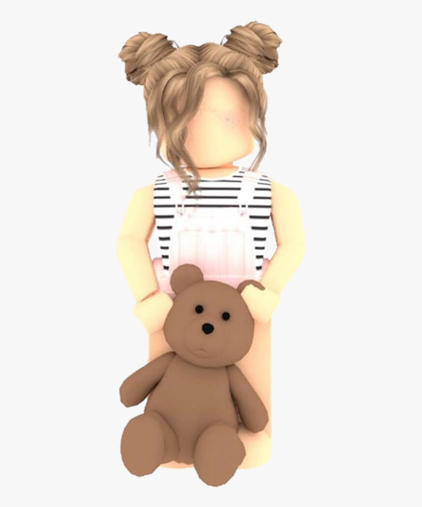 Aesthetic Pastel Roblox Gfx Three Girls Roblox Girl Gfx Png Cute Bloxburg Aesthetic Cute Roblox Girl Holding Teddy Transparent Png Kindpng