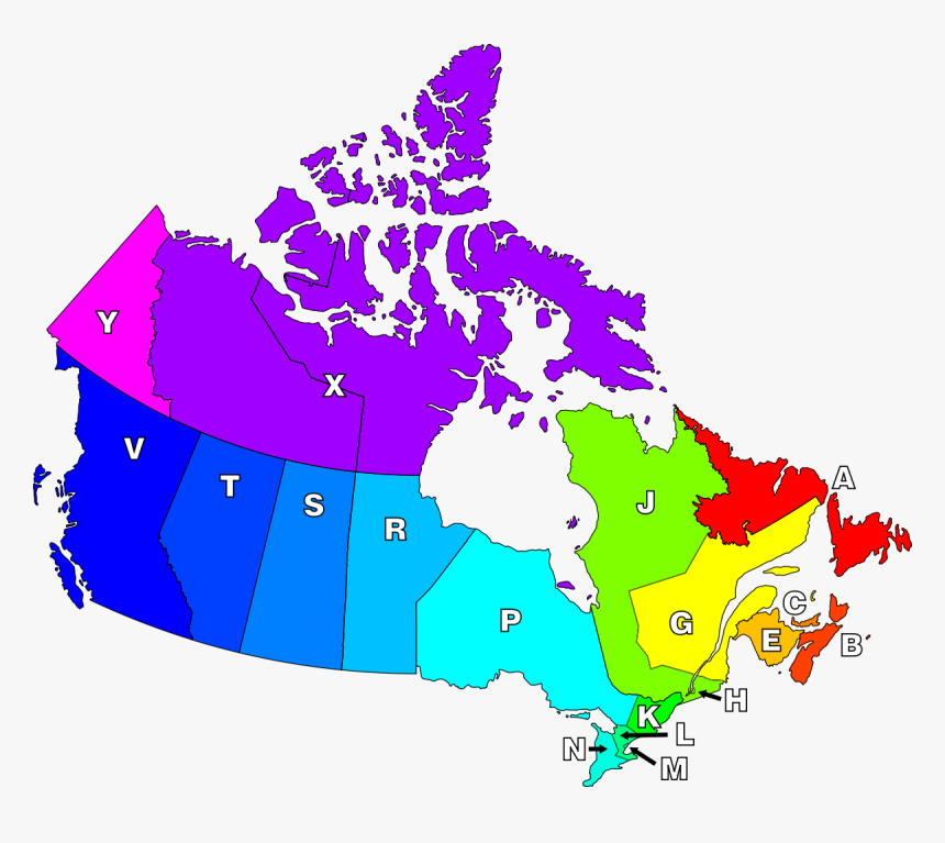Canada Postal Code Map, HD Png Download, Free Download