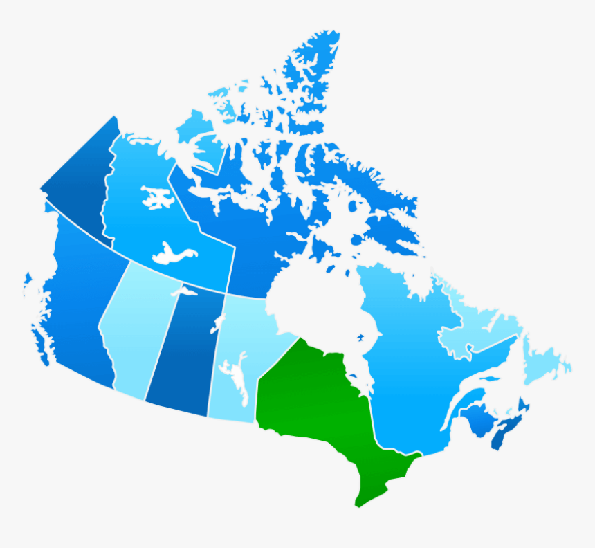 Map Of Canada - Canada Climate Change Map, HD Png Download, Free Download