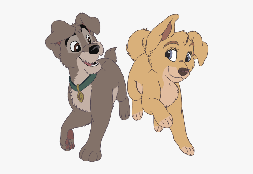 Angel And Scamp Love Art Lady And The Tramp Scamp Hd Png Download Kindpng