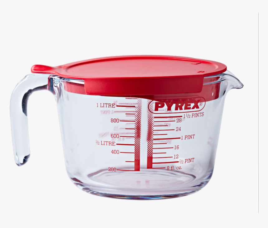 Pyrex Jug With A Lid 1lt - Pyrex 1 Litre Measuring Cup With Lid, HD Png Download, Free Download