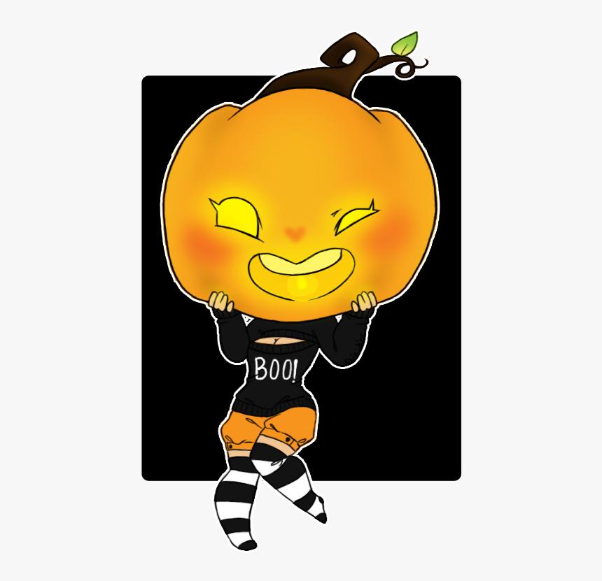 Pumpkin Head Png - Anime Pumpkin Head Girl, Transparent Png, Free Download