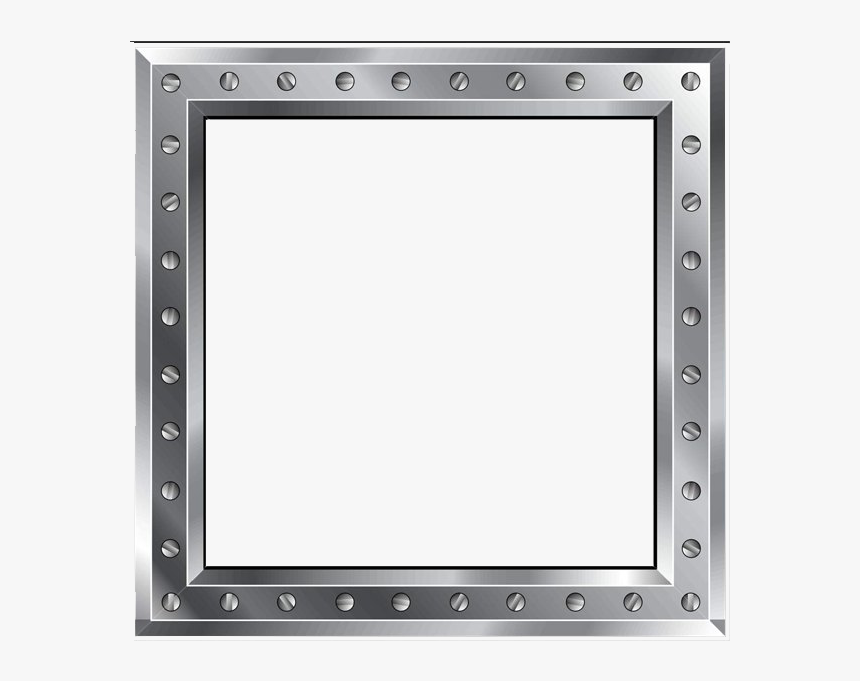 Silver Metallic - Rectangle Metal Border Transparent, HD Png Download, Free Download