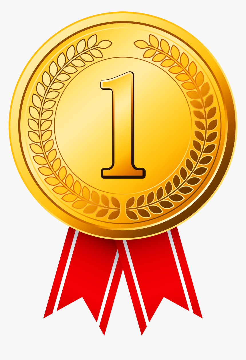 Golden Olympic Gold Cup Award Medal Clipart - Gold Medal Png, Transparent Png, Free Download
