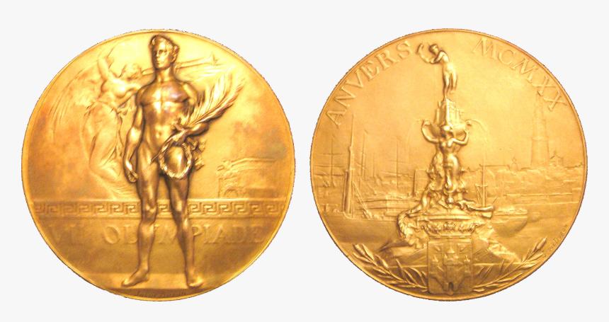 Transparent Bronze Medal Png - 1920 Olympic Gold Medal, Png Download, Free Download