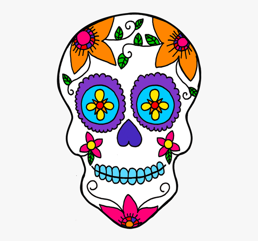 Day Of The Dead Skull Png - Mexico Day Of The Dead Clipart, Transparent Png, Free Download