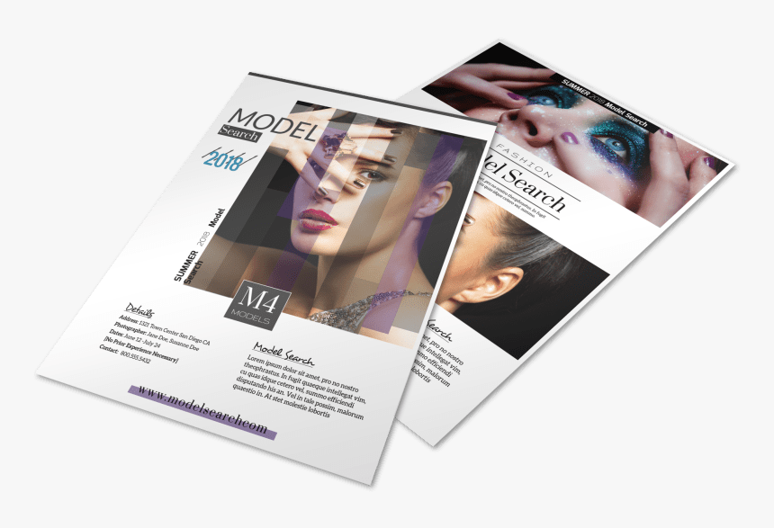 Fashion Model Search Flyer Template Preview - Flyer, HD Png Download, Free Download