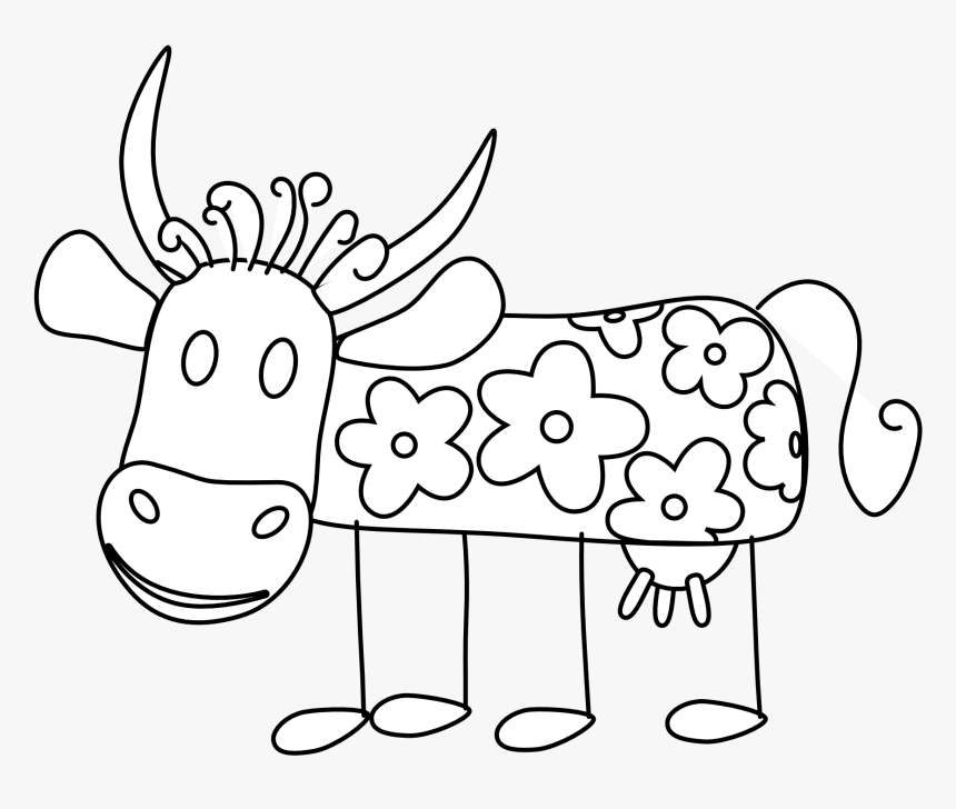 Clip Art Taurine Cattle Vector Graphics Portable Network - Coloring Book, HD Png Download, Free Download