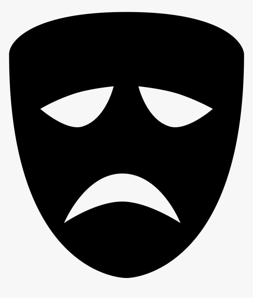 Comedy Mask Png- - Tragedy Icon Png, Transparent Png, Free Download