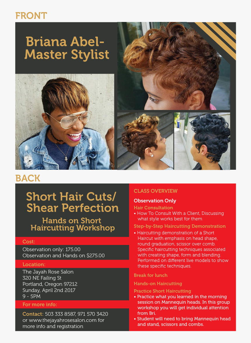 Flyer Design By Jadavprakash9 For This Project - Hair Care Class Flyer, HD Png Download, Free Download