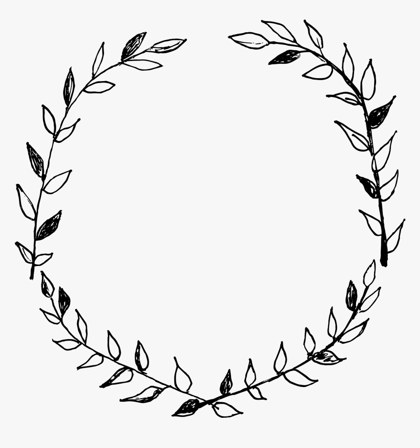 Hand Drawn Wreath Png, Transparent Png, Free Download