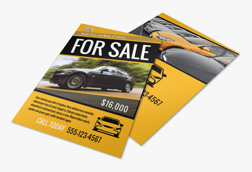 Car For Sale Flyer Template Preview - Car For Sale Flyer, HD Png Download, Free Download