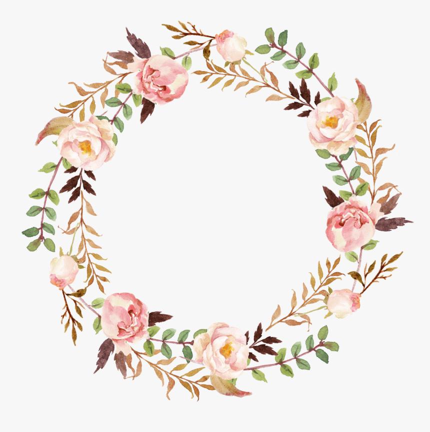 Wedding Invitation Paper Wreath Clip Art Transparent Background Flower Wreath Hd Png Download Kindpng