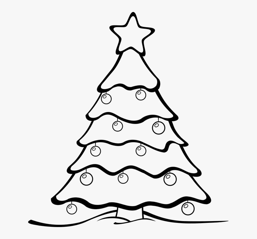 Árbol De Navidad, Fondo De Navidad - Christmas Tree Colouring Page, HD Png Download, Free Download