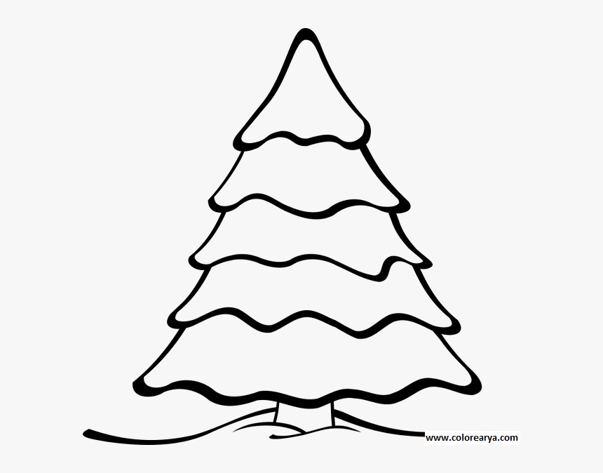 Arbol Navidad Para Colorear - Christmas Tree Black And White Clipart, HD Png Download, Free Download