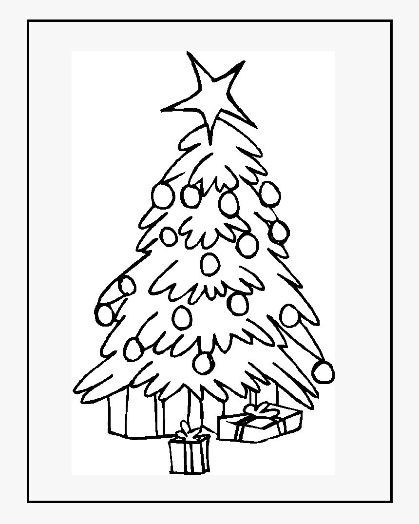 Christmas Tree That You Can Color, HD Png Download, Free Download