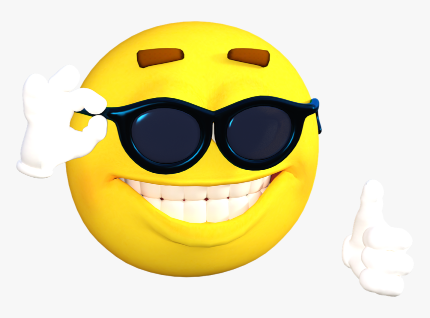 Emoticon, Emoji, Sonrisa, Cara, Icono - Emoji With Sunglasses And Thumbs Up, HD Png Download, Free Download