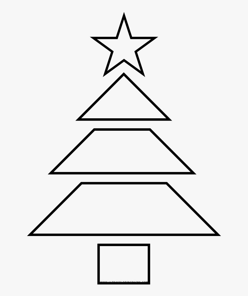 Árbol De Navidad Página Para Colorear - Christmas Tree, HD Png Download, Free Download