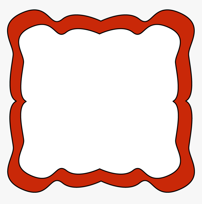 Red Curvy Frame - Red Borders And Frames Clip Art, HD Png Download, Free Download