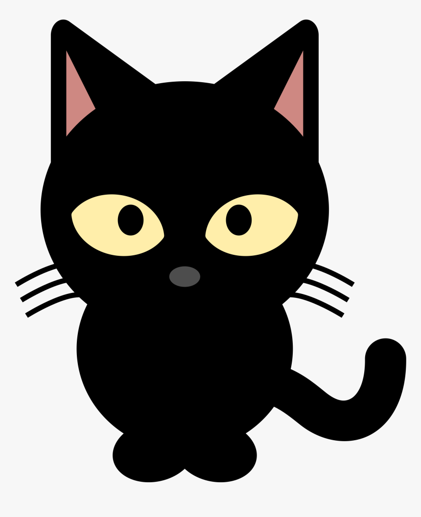 Clipart Black Cat Png - Cute Black Cat Clipart, Transparent Png, Free Download