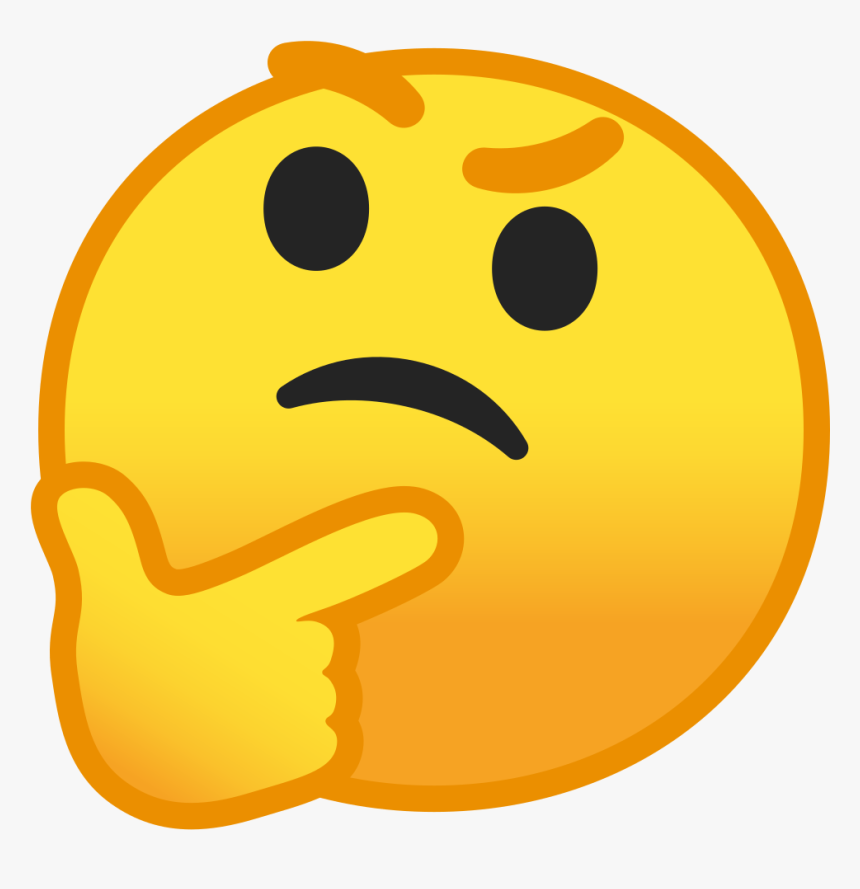 Thinking Face Icon - Thinking Emoji Transparent Background, HD Png Download, Free Download