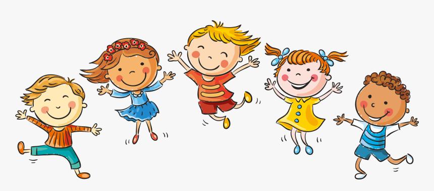 Hand Drawn Cartoon Children Happy Decoration Vector - Children Vector Png,  Transparent Png - kindpng