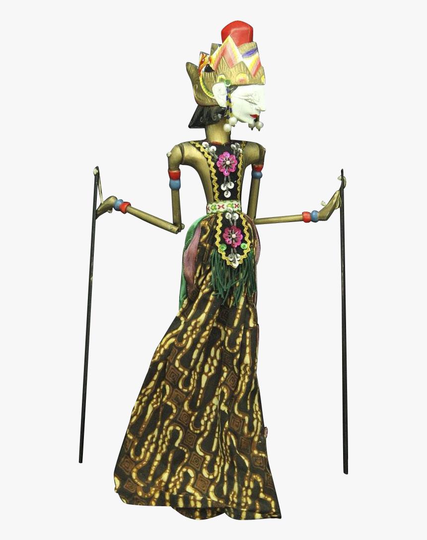 Drawn Doll Puppet Female Wayang Kulit Puppet Hd Png Download Kindpng