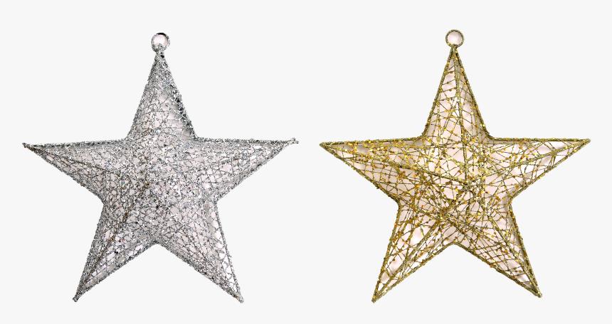 Enfeite De Pendurar Estrela Glitter 2 Sort - Clip Art, HD Png Download, Free Download