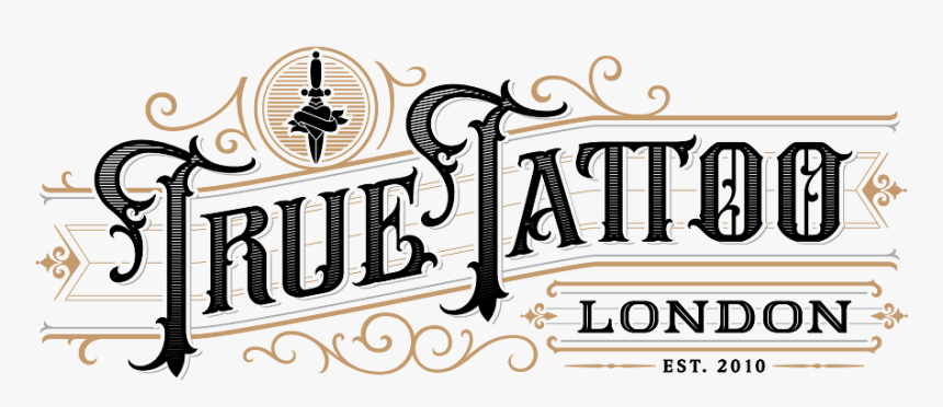 True Tattoo Logo-06 - Calligraphy, HD Png Download, Free Download
